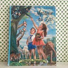 Orangevertevintage — Livre MArtine Au Zoo 1963
