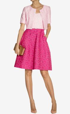 Oscar de la Renta Pink And Fuchsia Dress | VAUNTE