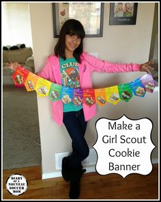 Faith and I love crafting for our Girl Scout Cookie booths and this banner is no exception!  In the past, we have made displays, bookmarks, ...