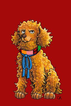 Artist Perfectly Pairs Doctor Who Actors With Pooches | Page 2 | The Mary Sue ~ No. 6 | Colin Baker - Cocker Spaniel ~ o.s.
