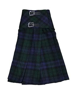 83d53c922 McWilliams Black Watch Tartan Ladies Buckle Womens Billie Kilt Mini Skirt  at Amazon Women's Clothing store: