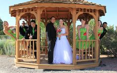 matching lime green bridesmaid dresses