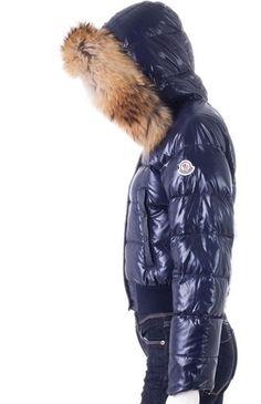 2642a52cc083 Vendre Pas cher Doudoune moncler alpin femme bouton de simple rang bleu  Down Puffer Coat,