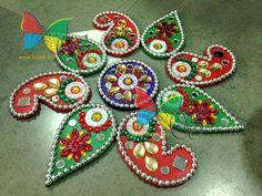 Rangoli making