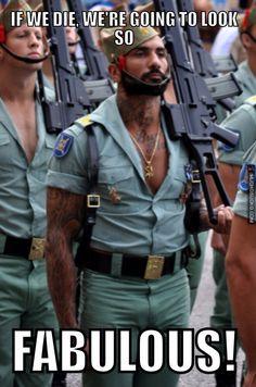 Damn the Spanish army uniforms look good.