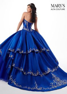 Embroidered Charro Two-Piece Quinceanera Dress by Alta Couture Bridal-ABC Fashion Quince Dresses, 15 Dresses, Couture Dresses, Ball Dresses, Ball Gowns, Two Piece Quinceanera Dresses, Mexican Quinceanera Dresses, Mexican Dresses, Quinceanera Cakes