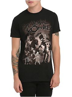 Black T-shirt from My Chemical Romance with deluxe artwork inspired by <I>The Black Parade</I>.