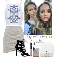 Day with Perrie and Jade by lovatic92 on Polyvore featuring Topshop, Pull&Bear, Proenza Schouler, BlissfulCASE and NARS Cosmetics