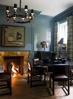 Quarry Rock 1568 Gray High Gloss Wall   Benjamin Moore. Dark and sensual for a den or dining room.