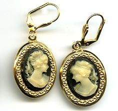 weird earrings | ... [cameo184] - $18.50 : Enchantress Jewelry, Unique Handmade Jewelry