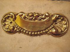 1 Vintage  Antique Stamped Brass Old Stock  by StarPower99 on Etsy, $3.00