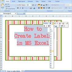 How to Make Labels in Excel by A Typical English Home website Create Labels, How To Make Labels, Party Font, Quilt Labels, Fabric Labels, Microsoft Excel, Microsoft Office, Thing 1, English House