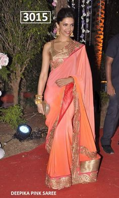 Peach Bollywood Saree : http://goo.gl/Icz6rL Watsapp : 90998 23943