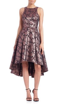 Sachin & Babi Noir | Brocade Hi-Lo Dress | SAKS OFF 5TH