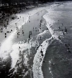 """joeinct: """"Manly Beach from Shark Tower, Photo by Max Dupain """" Sydney Photography, Australian Photography, Australian Art, Manly Beach, Brassai, Magic Hour, South Of France, View Image, Black And White Photography"""