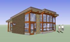 Fabcab TimberCab 848 prefab home. Tiny House Kits, Shed To Tiny House, Tiny House Exterior, Modern House Plans, Small House Plans, Modular Homes, Prefab Homes, Tiny Homes, Micro Homes