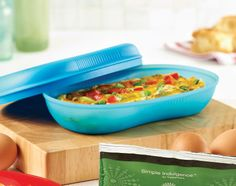 Tupperware Italian Frittata - Ingredients 3/4 cup frozen country-style hash browns 1 green onion 1/8 red bell pepper 2 tbsp. cold water 1/2 tsp. Simple Indulgence Italian Herb Seasoning Blend 1/4 cup reduced fat shredded cheddar cheese
