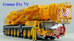 This is the Cranes Etc TV review of WSI's 1/50 scale model of the Liebherr LTM 1500-8.1 Mobile Crane in the colours of Ainscough. The model number is 01-1638...