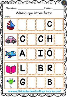Spanish Teaching Resources, Reading Resources, Preschool Learning Activities, Kindergarten Literacy, Beginning Reading, School Items, School Worksheets, Early Childhood Education, Home Schooling