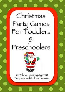 christmas games for toddlers & preschoolers, free printable booklet