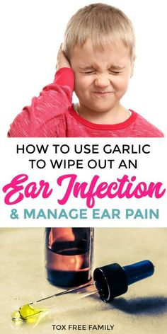 How to use garlic cloves and garlic olive oil for ear infections and to help manage ear pain. Treat ear infections naturally with garlic olive oil. Garlic Oil For Ears, Garlic Olive Oil, Garlic In Ear, Garlic For Ear Infection, Oils For Ear Infection, Natural Ear Infection Remedy, Toddler Ear Infection, Ear Infection Symptoms Baby, Homeopathic Remedies