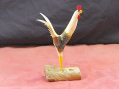 Carved Chicken Rustic Rooster Primitive by JJLadellsWoodcarving, $19.50