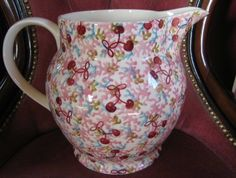 Emma Bridgewater Studio Special Coral & Cherries 6 Pint Jug for Collectors Day 2014