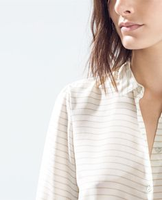 Image 4 of STRIPED SILK BLOUSE from Zara