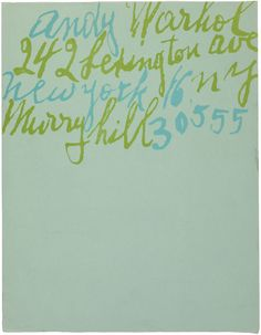 Andy Warhol's awesome official letterhead.