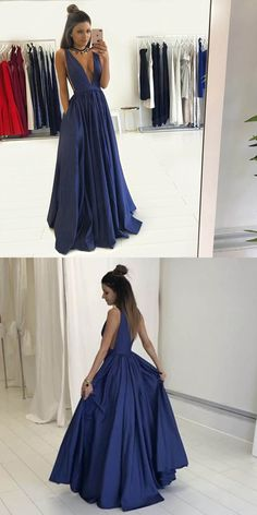 prom dresses,dark blue prom dresses,deep v neck prom dresses,2017 prom dresses,prom dresses for girls,