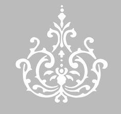 Трафарет липкие Записки 12 x 14 см БОЛЬШОЙ ОРНАМЕНТ в стиле БАРОККО
