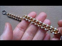 Beaded bracelet for beginners - YouTube