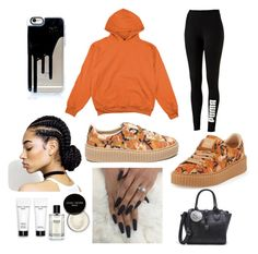 """""""comfy day"""" by kimberlynglam on Polyvore featuring Puma and Bobbi Brown Cosmetics"""