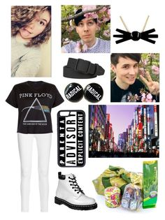 """Adventures in Japan with Dan and Phil"" by no-tthe-same ❤ liked on Polyvore featuring Frame Denim, Floyd, Dr. Martens, CellPowerCases, Dsquared2, women's clothing, women, female, woman and misses"
