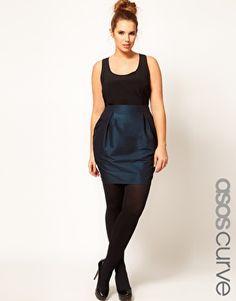 ASOS CURVE Exclusive Dome Skirt #plus #size