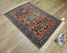 3x5 Persian Ardebil Vintage Hand-Knotted Rug by VintageRugsCarpets