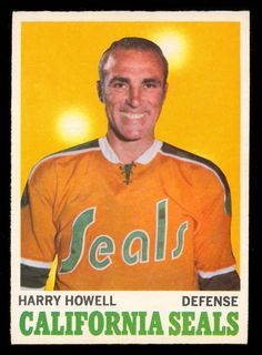 The Califonia Golden Seals existed in the National Hockey League for just a short nine year span from to Originally dub. Hockey Cards, Baseball Cards, Hockey Shot, Stars Hockey, National Hockey League, Hockey Players, Seals, Nhl, Coaching