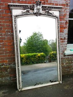 A  Large stunning highly unusual early 19th Century french ornate Mirror - floor standing mirror to soften the modern styles of the main bedroom