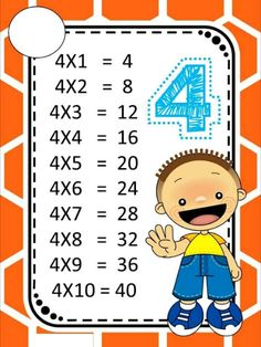 ♥ProfªAnanda♥: Tabuada Colorida! 2nd Grade Math Worksheets, Worksheets For Kids, Learning Activities, Kids Learning, 4x4, Teaching Methods, Math For Kids, Preschool Art, Fractions