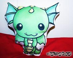 Dragon+Plush+Animal+Pillow++Eco+Friendly++Organic++by+ReLovePlanet,+$12.00