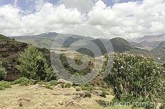 Morocco. The High Atlas Mountains. There is breathtaking view from the top of the pass Tizi nTichka