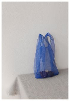 royal blue net bag #cartonmagazine