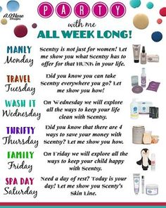 SCENTSY PARTY with me all week on Facebook!!!