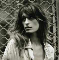 hair, middle part // Caroline de Maigret