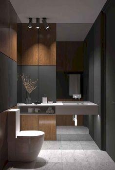 New Farmhouse Modern Bathroom Layout Ideas Diy Bathroom Remodel, Shower Remodel, Bathroom Interior, Bathroom Renovations, Interior Paint, Simple Bathroom, Modern Bathroom, 1950s Bathroom, Modern Vanity