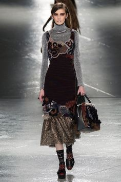rodarte freeform crochet dress New Crochet on the Runway from Rodarte (Autumn/Winter 2014 Fashion Week)