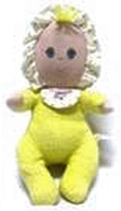Searching – Amtoy Yellow Terry Doll With Ruffle Bonnet