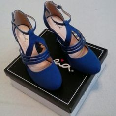 Qupid Strappy Royal Blue NUBACK PU, (NEW) Size 8 Royal Blue Strappy Nuback PU (NEW WITH BOX) Size 8 M... Refer to all the photos... Please . Check Out and thanks. for looking. ..  Qupid  Shoes Heels
