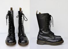 Doc Martens Tall Boots  14 Eyelets Dr Martens  by ItaLaVintage