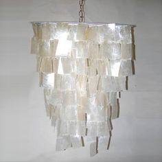 Square Capiz Shell Chandelier by: Worlds Away furniture - MatthewIzzo.com -